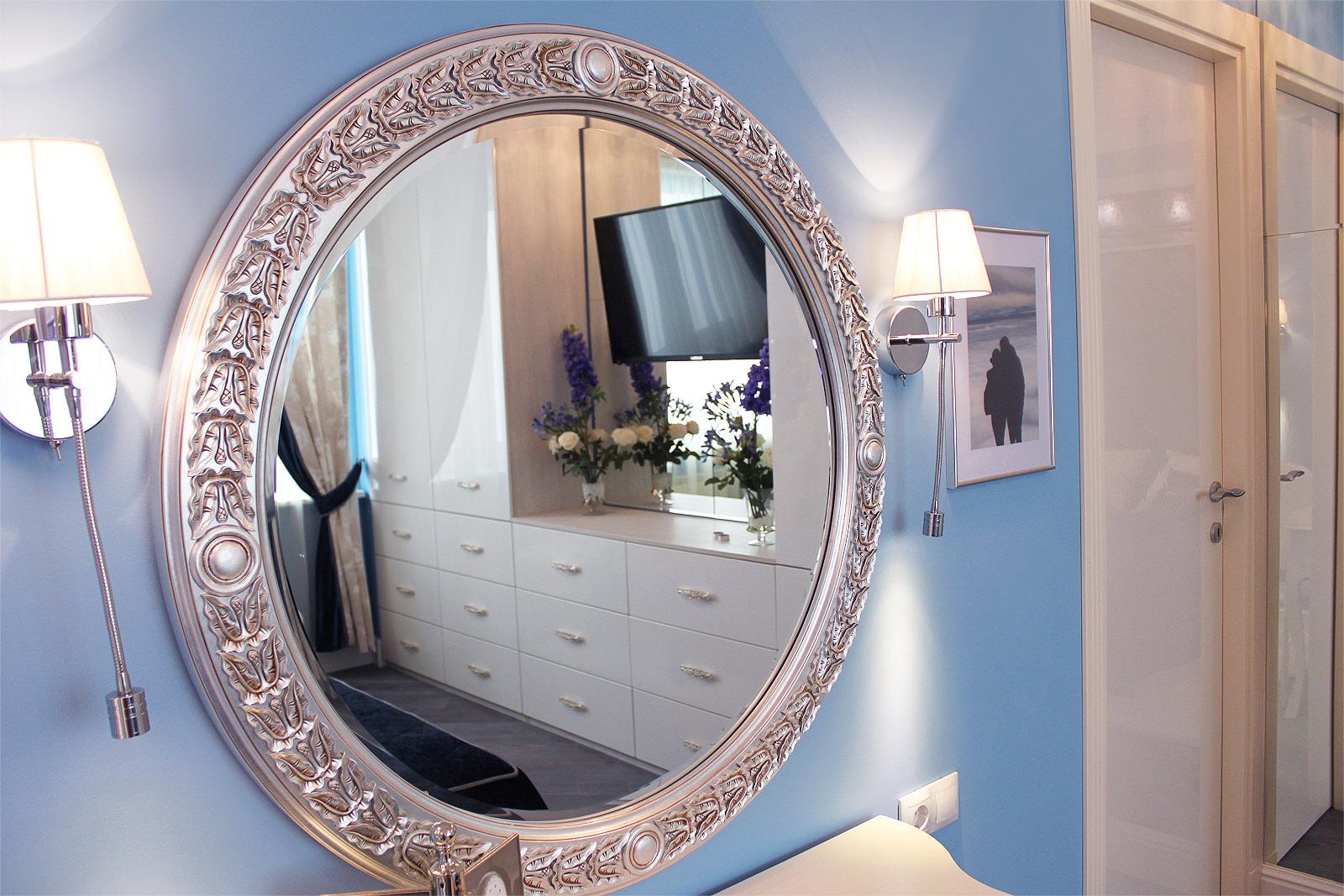 Расположение зеркал по фен-шуй в спальне